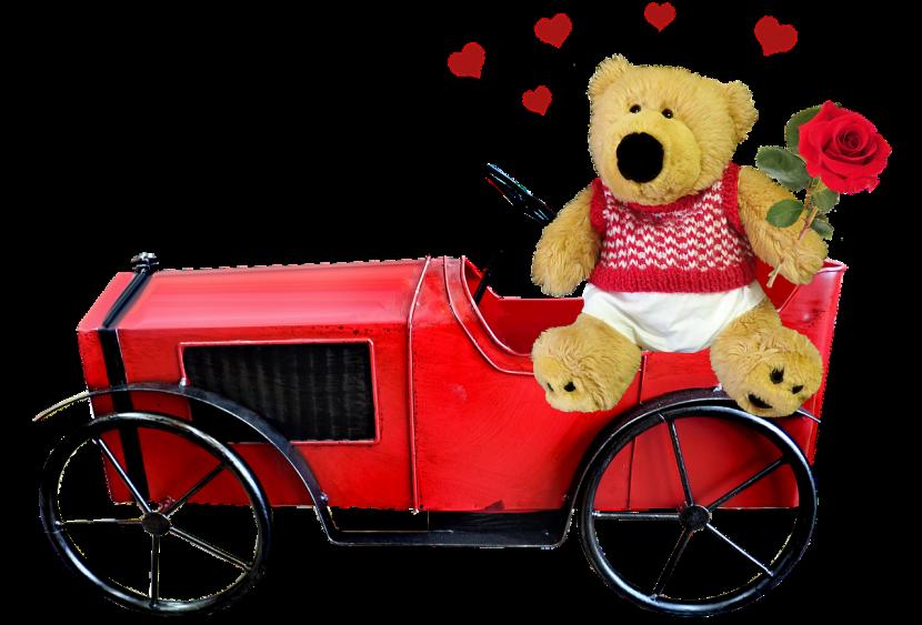 ours en rose à cadeau
